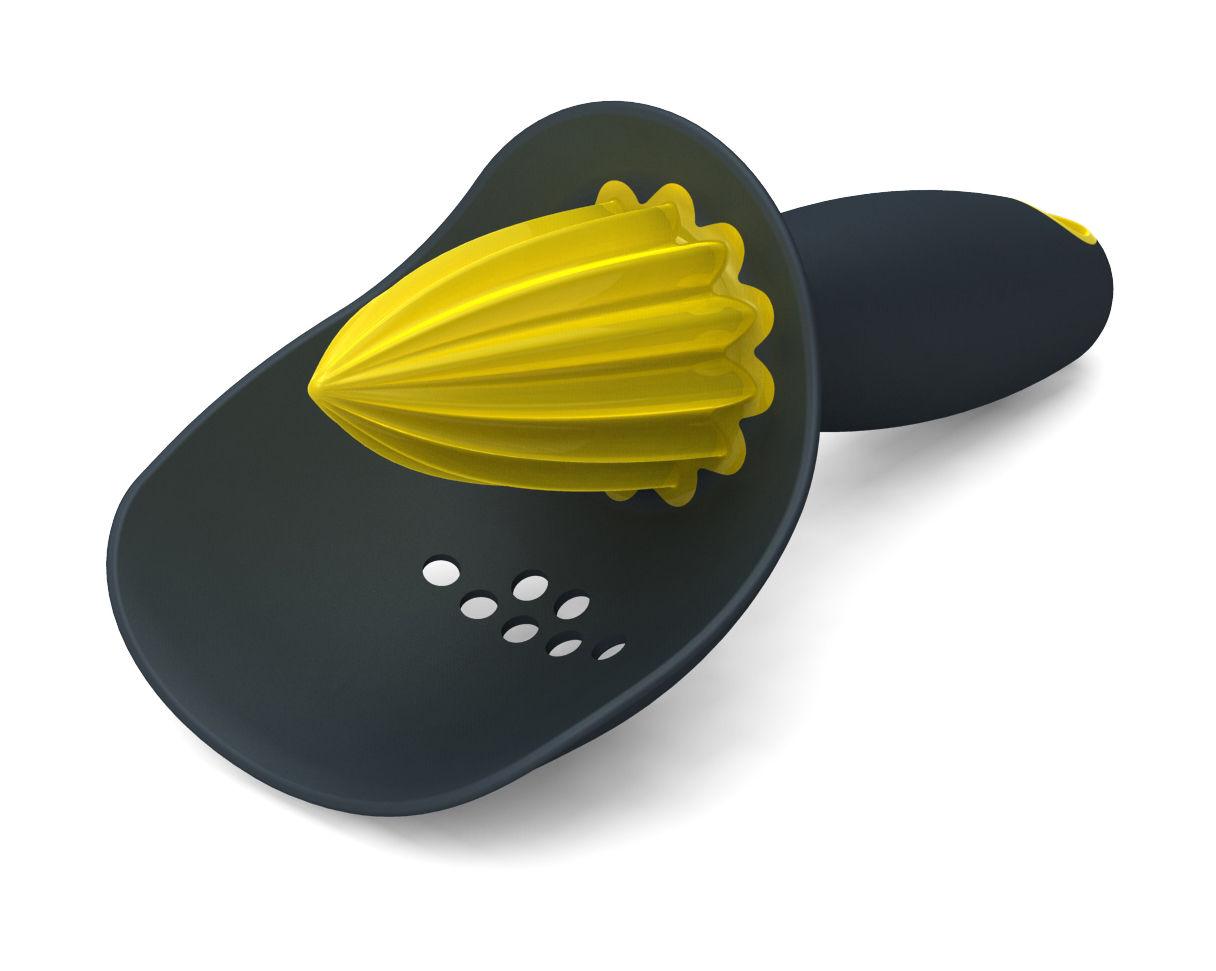 Cucina - Utensili da cucina - Spremiagrumi Catcher - con filtro integrato di Joseph Joseph - Grigio - Gomma, Polipropilene