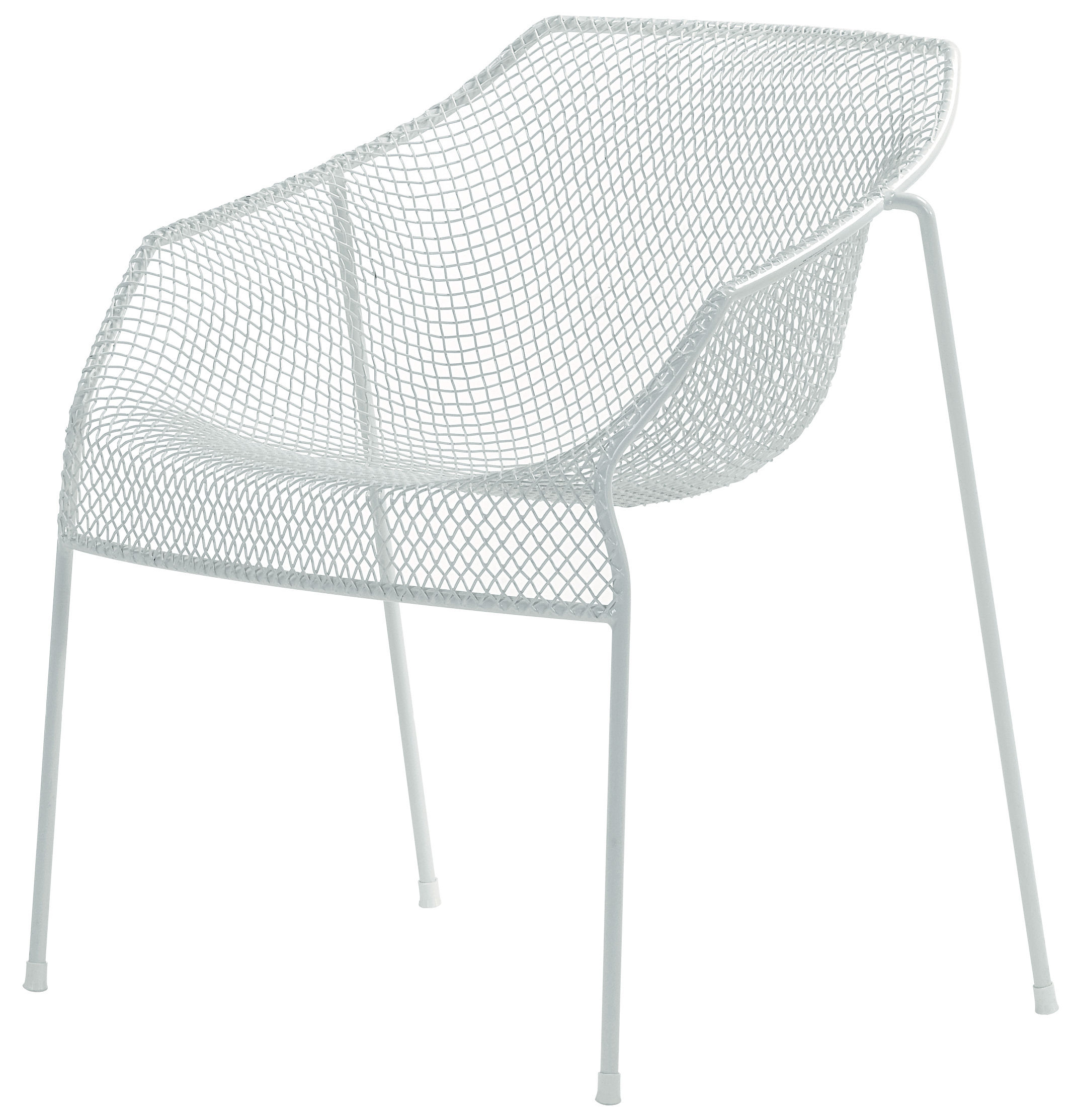 Furniture - Chairs - Heaven Stackable armchair - Metal by Emu - Matt white - Steel