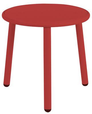 Table basse Yard / Ø 50 cm - Emu rouge en métal