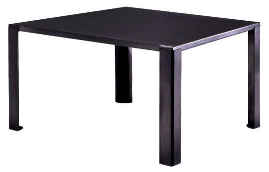 Mobilier - Tables - Table carrée Big Irony / 135x135 cm - Zeus - 135 x 135 cm / Acier phosphaté noir - Acier phosphaté