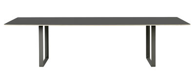 Table rectangulaire 70-70 XXL / 295 x 108 cm - Contreplaqué - Muuto noir en métal/matière plastique/bois