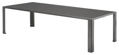 Table rectangulaire Big Irony Outdoor / L 238 cm - Zeus gris chaud en métal
