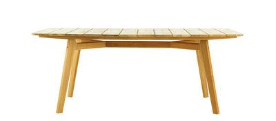 Table rectangulaire Knit / 200 x 100 cm - Teck - Ethimo teck naturel en bois