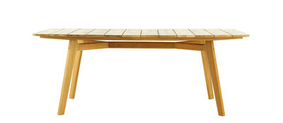 Table rectangulaire Knit / 200 x 100 cm - Teck - Ethimo teck naturel en bois