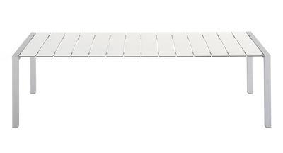 Jardin - Tables de jardin - Table rectangulaire Sushi Outdoor / Lattes Fenix - L 180 cm - Kristalia - Fenix blanc / Pied alu - Aluminium anodisé, Thermo-stratifié Fenix-NTM®
