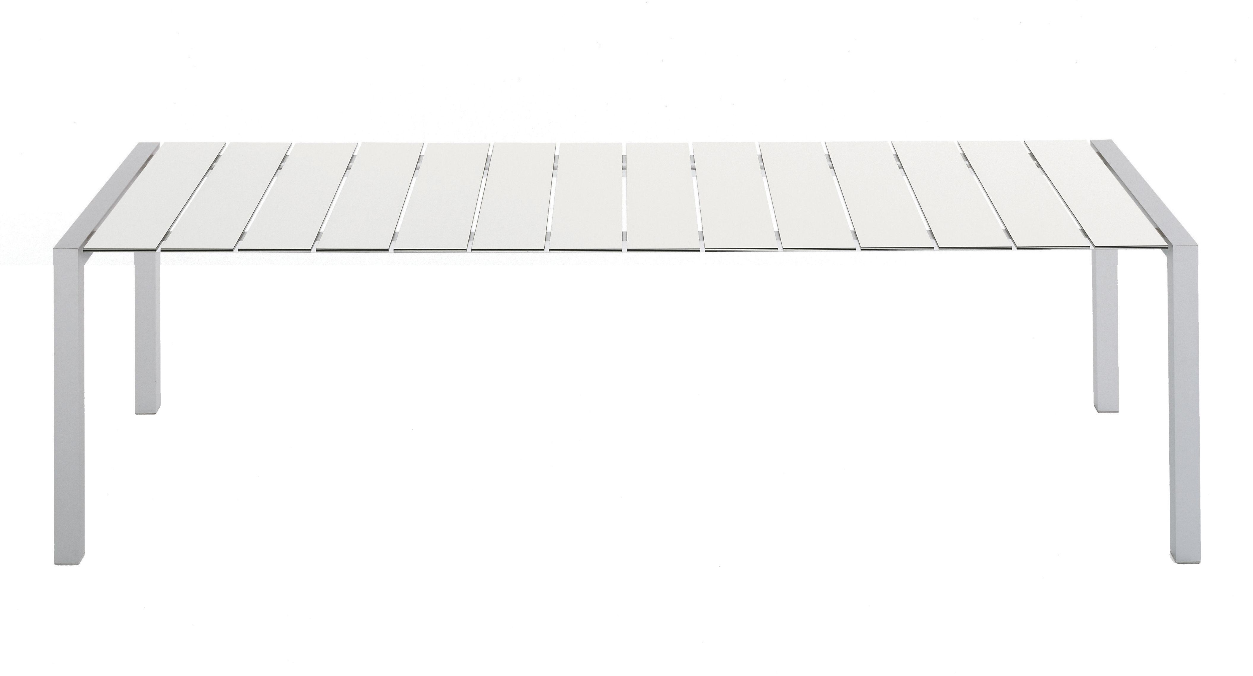 Outdoor - Tables de jardin - Table rectangulaire Sushi Outdoor / L 180 cm - Kristalia - Laminé blanc - Aluminium anodisé, Laminé stratifié