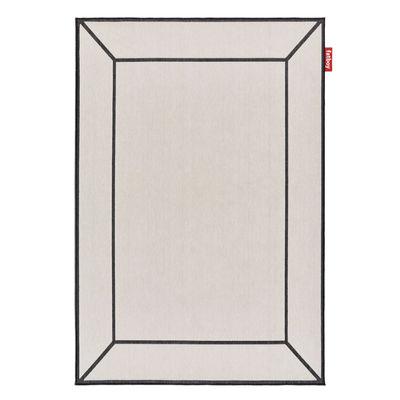 Déco - Tapis - Tapis d'extérieur Carpretty Frame / 200 x 290 cm - Polypropylène tissé - Fatboy - Blanc cassé - Polypropylène tissé