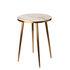 Tavolino d'appoggio - / Ø 40 x H 55 cm - Effetto Marmo di Pols Potten