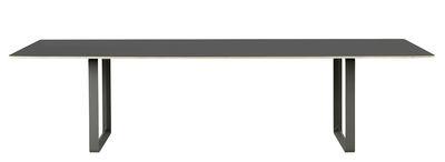 Arredamento - Mobili da ufficio - Tavolo rettangolare 70-70 XXL - / 295 x 108 cm di Muuto - Nero / Piedi neri - Alluminio, Compensato, Linoleum