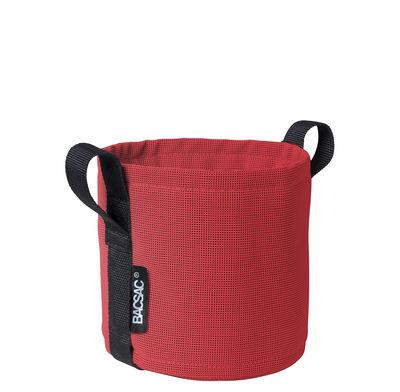 Image of Vaso per fiori Batyline® - / Esterno - 3 L di Bacsac - Rosso - Tessuto