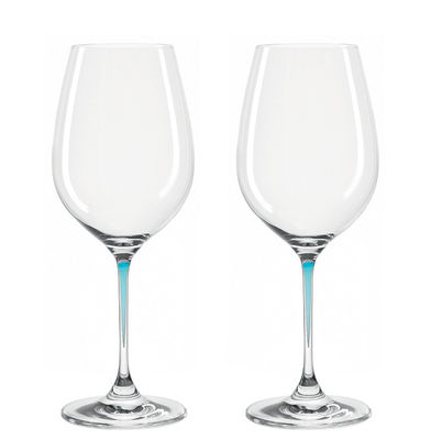 Verre à vin La Perla / Set de 2 - Leonardo bleu en verre