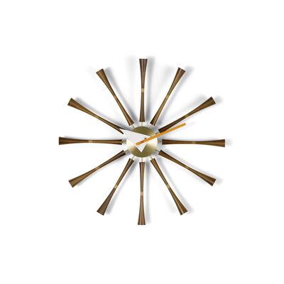 Decoration - Wall Clocks - Spindle Clock Wall clock - / By George Nelson, 1948-1960 / Ø 57 cm by Vitra - Walnut - Aluminium, Solid walnut