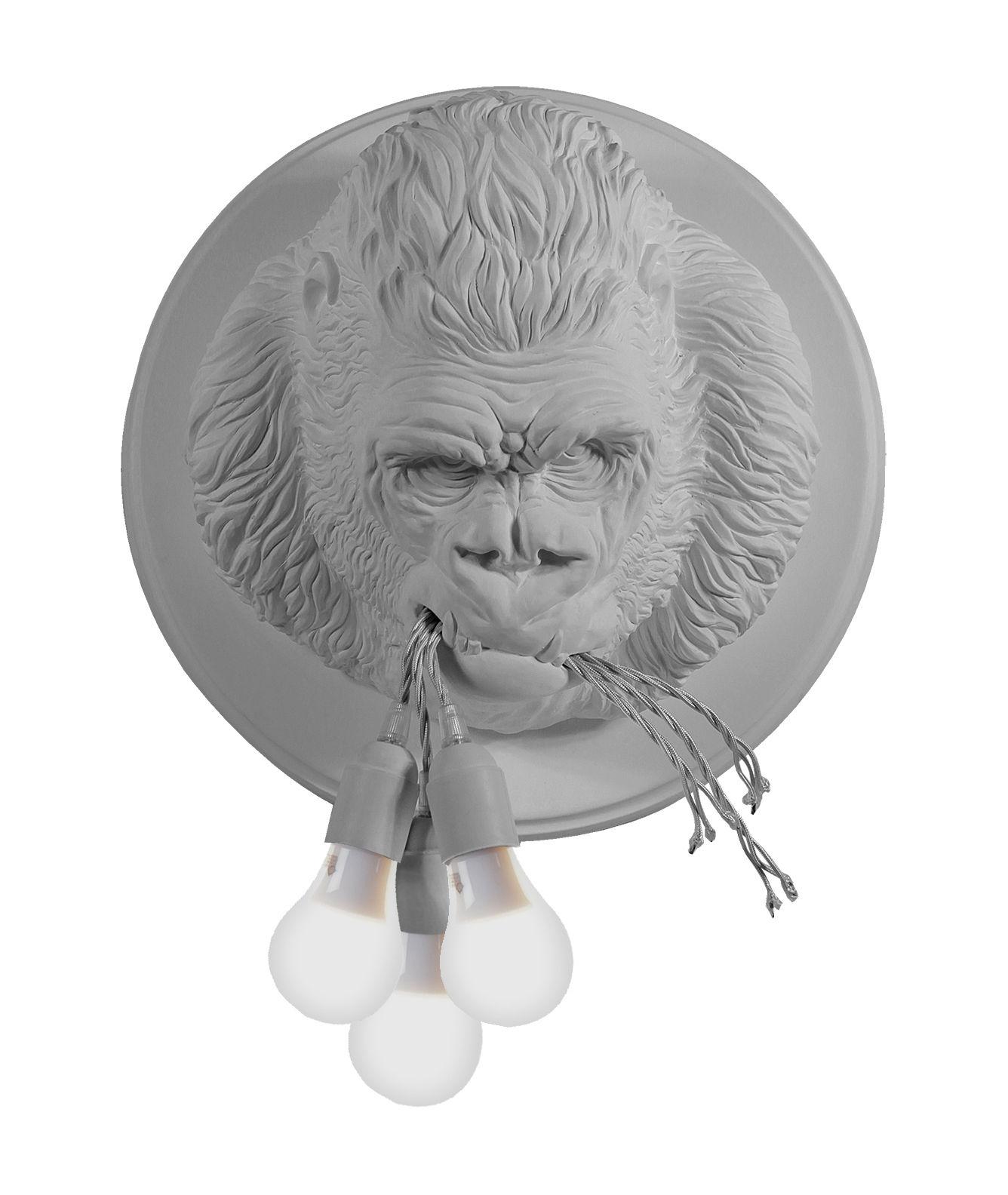 Luminaire - Appliques - Applique Ugo Rilla / Gorille céramique - Ø 41,5 cm - Karman - Blanc mat - Céramique
