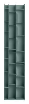Bibliothèque Random 3C / L 46 x H 217 cm - MDF Italia bleu ciel foncé en bois