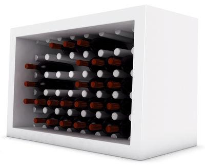 Casier à bouteilles Bachus - Slide blanc en matière plastique