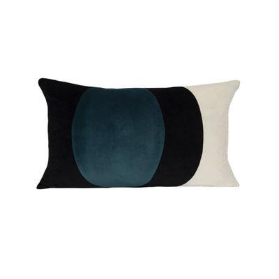 Déco - Coussins - Coussin Lune / Velours - 50 x 30 cm - Maison Sarah Lavoine - Bleu Sarah - Fibre silicone, Velours