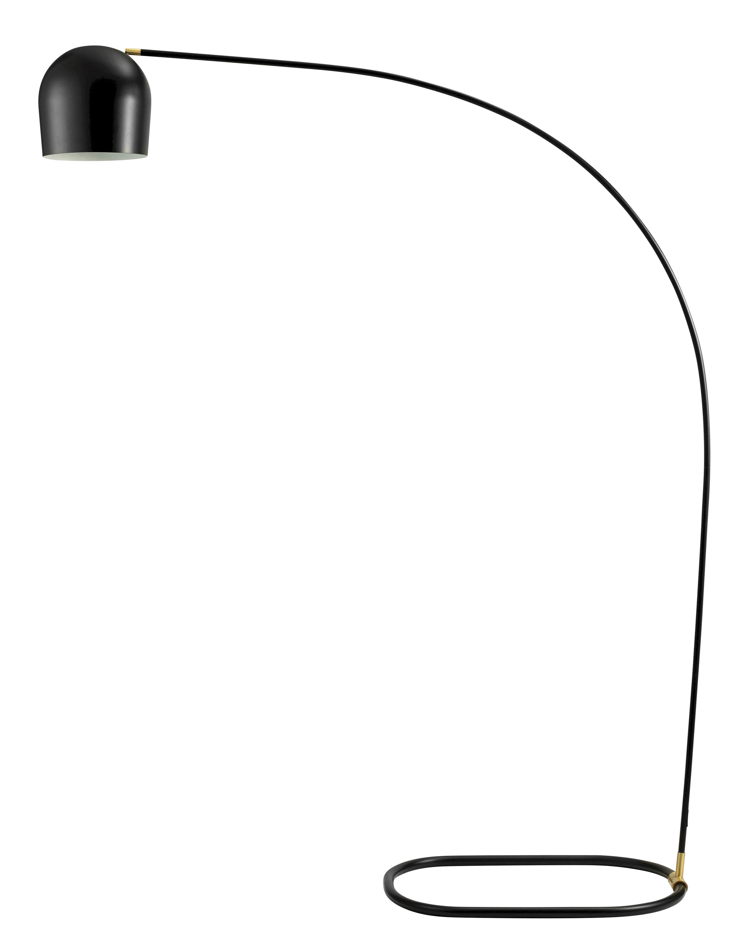 Lighting - Floor lamps - Circle Floor lamp - H 205 cm by Bolia - Black  & Brass - Steel