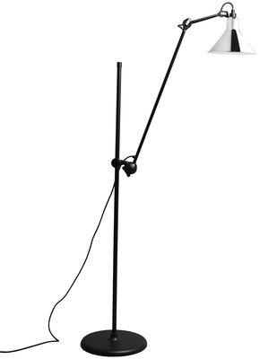 Lighting - Floor lamps - N°215L Floor lamp by DCW éditions - Chrome - Steel