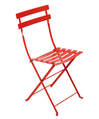 Furniture - Chairs - Bistro Folding chair - Metal by Fermob - Poppy - Lacquered steel