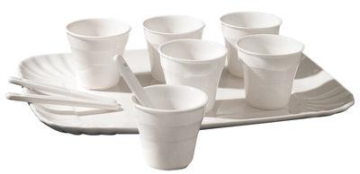 Tischkultur - Tassen und Becher - Estetico Quotidiano Kaffeservice / für 6 Personen - Seletti - Für 6 Personen / weiß - Porzellan