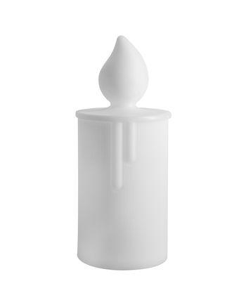 Lampe sans fil Fiamma LED / Outoor - H 30 cm - Slide blanc en matière plastique