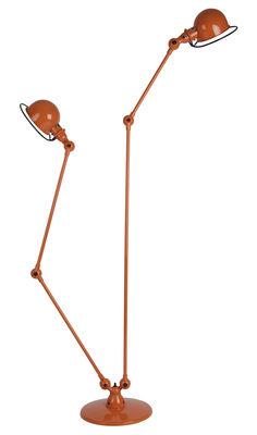 Liseuse Loft /Double - 2 bras articulés - H max 160 cm / 120 cm - Jieldé orange brillant en métal