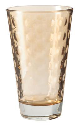 Tischkultur - Gläser - Optic Longdrink Glas / H 13 cm x Ø 8 cm - 30 cl - Leonardo - Braun - beschichtetes Glas