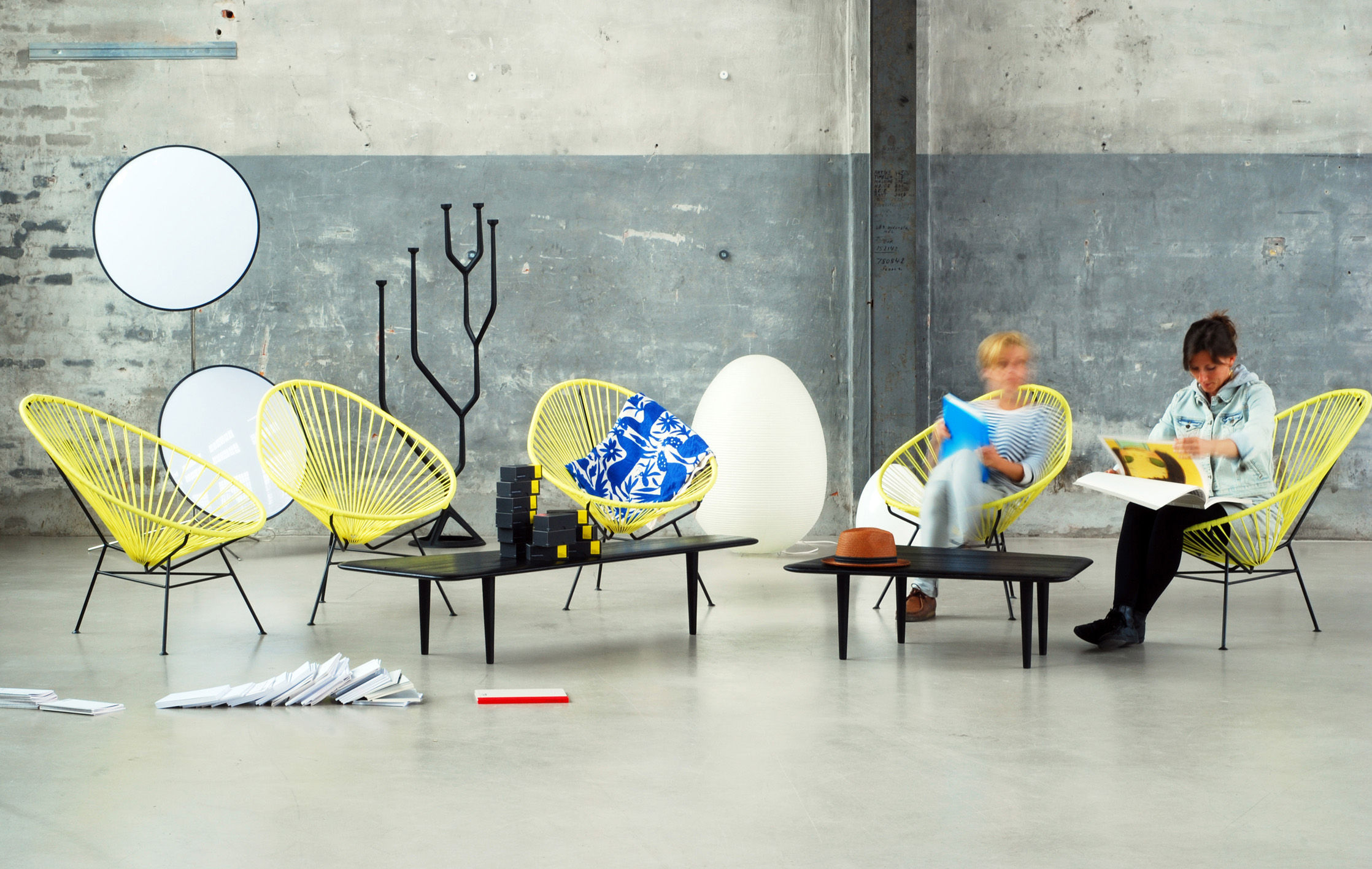 Acapulco Low Armchair Petrol Blue By OK Design Pour Sentou Edition | Made  In Design UK
