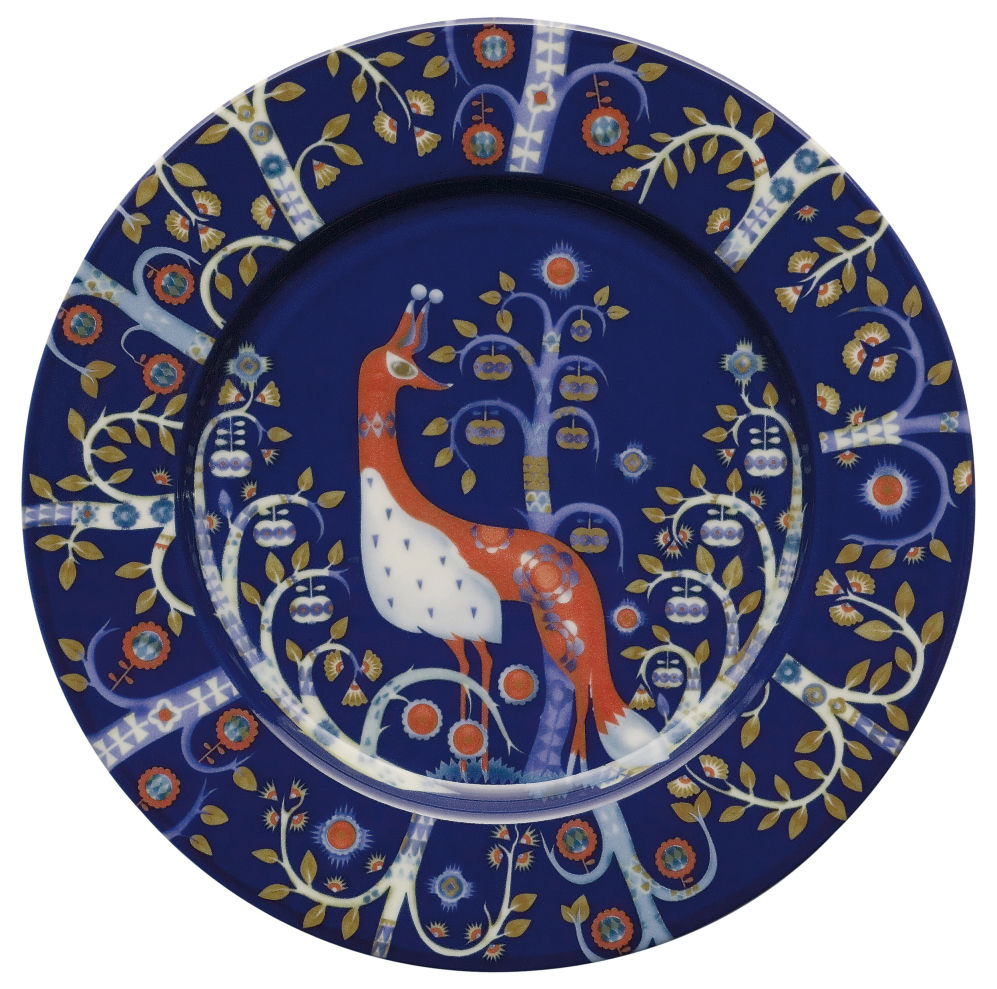 Tavola - Piatti  - Piatto da dessert Taika di Iittala - Fondo blu - Ceramica