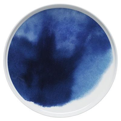 Tavola - Piatti  - Piatto Oiva Sääpäiväkirja / Ø 25 cm - Marimekko - Sääpäiväkirja / Blu - Porcellana