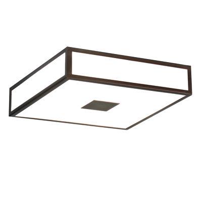 Plafonnier Mashiko Square LED / 40 x 40 cm - Polycarbonate - Astro Lighting blanc,bronze en matière plastique