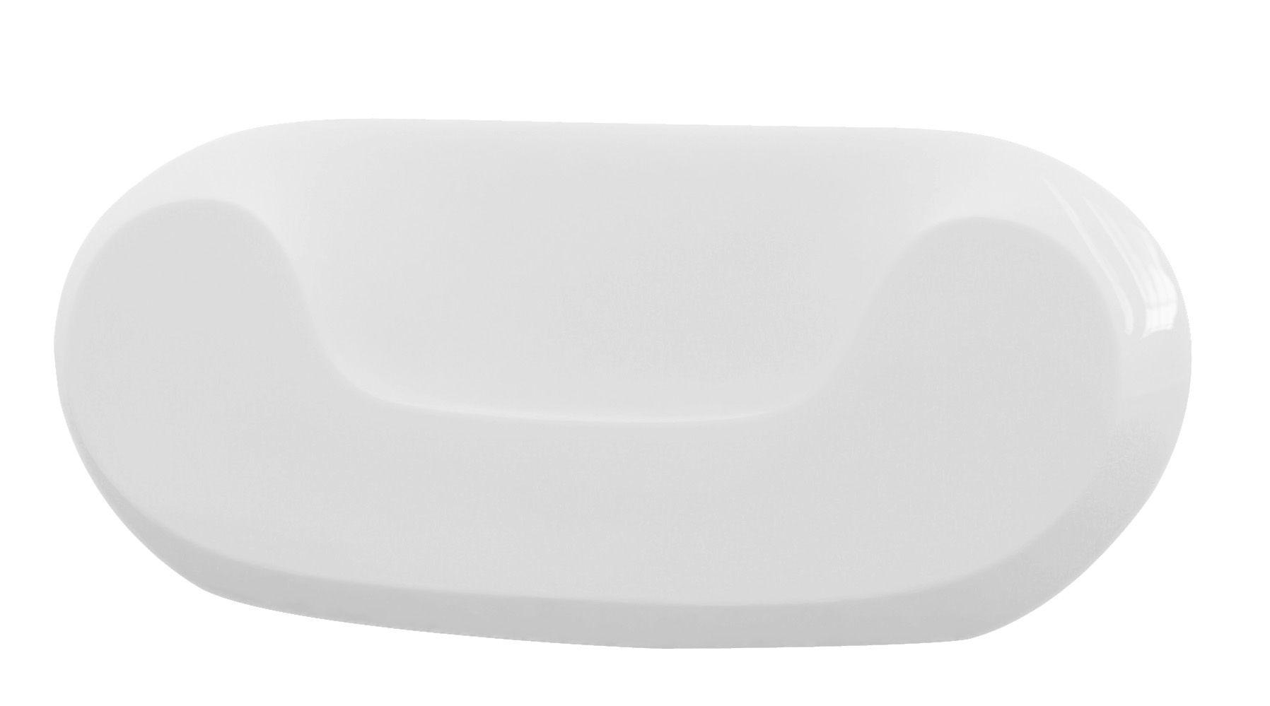 Arredamento - Mobili Ados  - Poltrona bassa Chubby - versione laccata di Slide - Laccato bianco - Polietilene riciclabile laccato