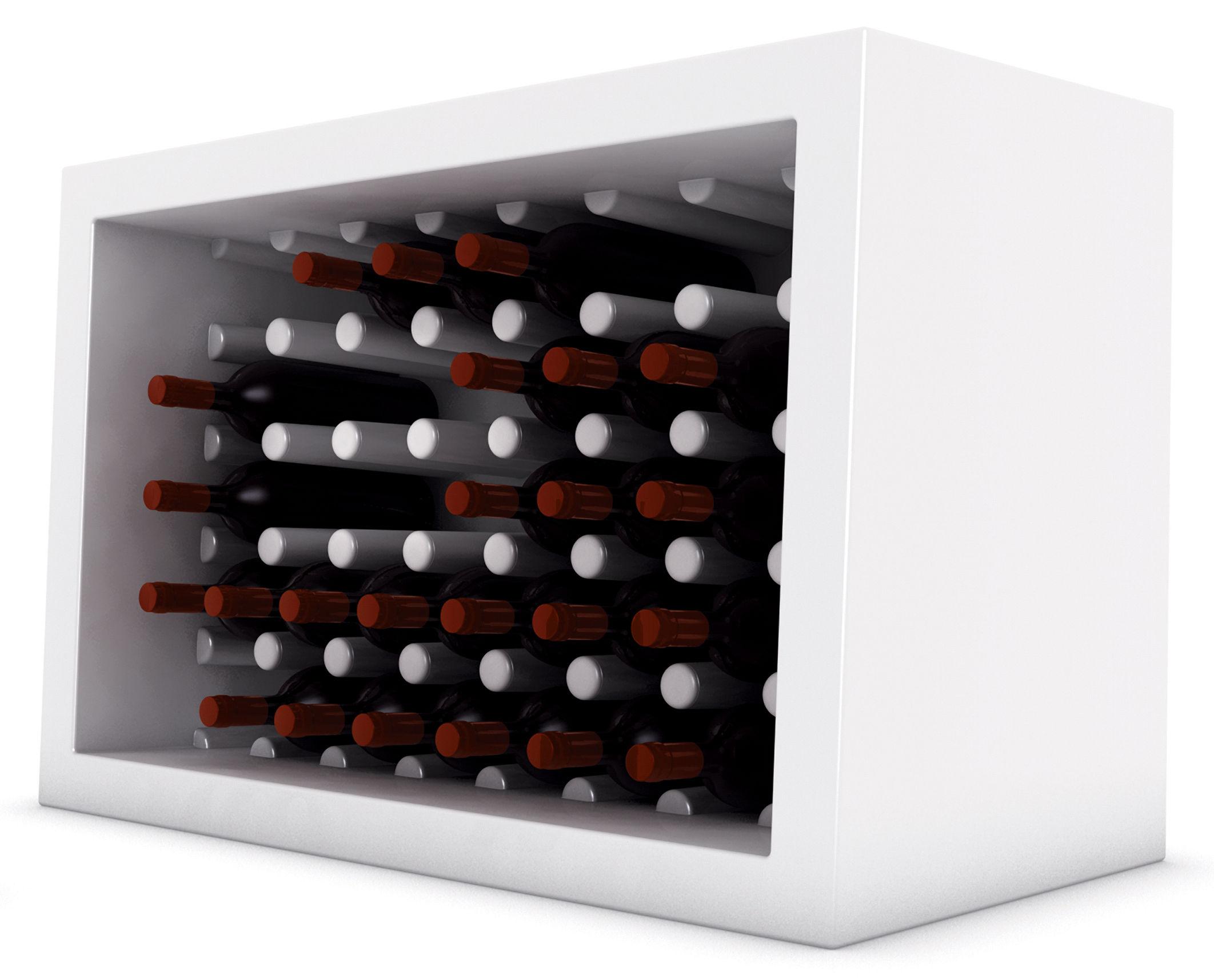 Outdoor - Decorazioni e accessori - Portabottiglie Bachus di Slide - Bianco - polyéthène recyclable
