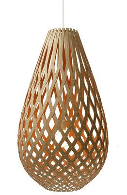 Illuminazione - Lampadari - Sospensione Koura - Ø 55 cm - Bicolore - Esclusiva di David Trubridge - Arancione/ legno naturale - Pino