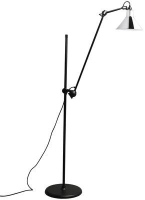 Leuchten - Stehleuchten - N°215L Stehleuchte / H 142 bis 230 cm - DCW éditions - Chrom - Stahl