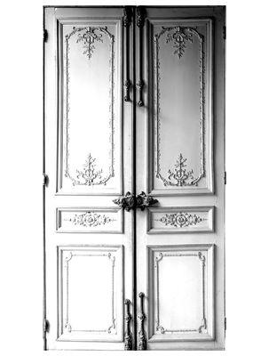 Dekoration - Stickers und Tapeten - Porte Haussmannienne Sticker - Maison Martin Margiela - Weiß / grau - Tissu adhésif