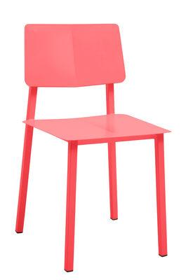 Möbel - Stühle  - Rosalie Stuhl - Hartô - Erdbeerrot - Stahl