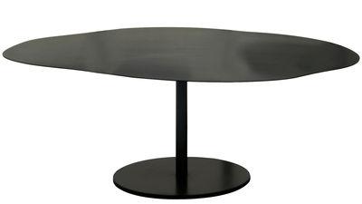 Mobilier - Tables basses - Table basse Puddle / 90 x 60 x H 32 cm - Zeus - Noir phosphaté - Acier phosphaté