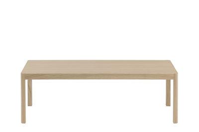 Mobilier - Tables - Table d'appoint Workshop / Bois - Muuto - Chêne naturel - Chêne clair