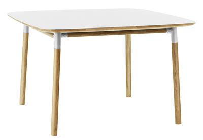 Table Form / 120 x 120 cm - Normann Copenhagen blanc,chêne en matière plastique