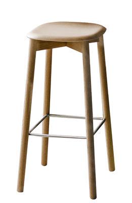 Tabouret haut Soft Edge 32 / H 75 cm - Legno - Hay chêne naturel en bois