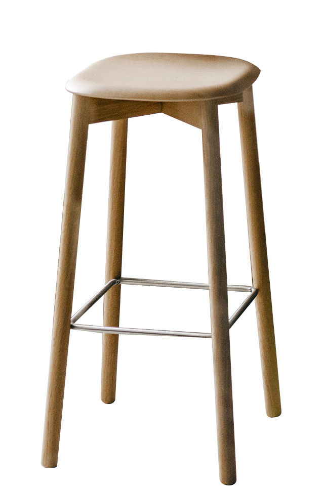 Mobilier - Tabourets de bar - Tabouret haut Soft Edge 32 / H 75 cm - Legno - Hay - Chêne - Chêne massif verni, Contreplaqué de chêne verni