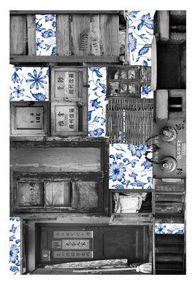 Déco - Tapis - Tapis Remnant 2 / 300 x 200 cm - Moooi Carpets - Bleu & gris - Polyamide
