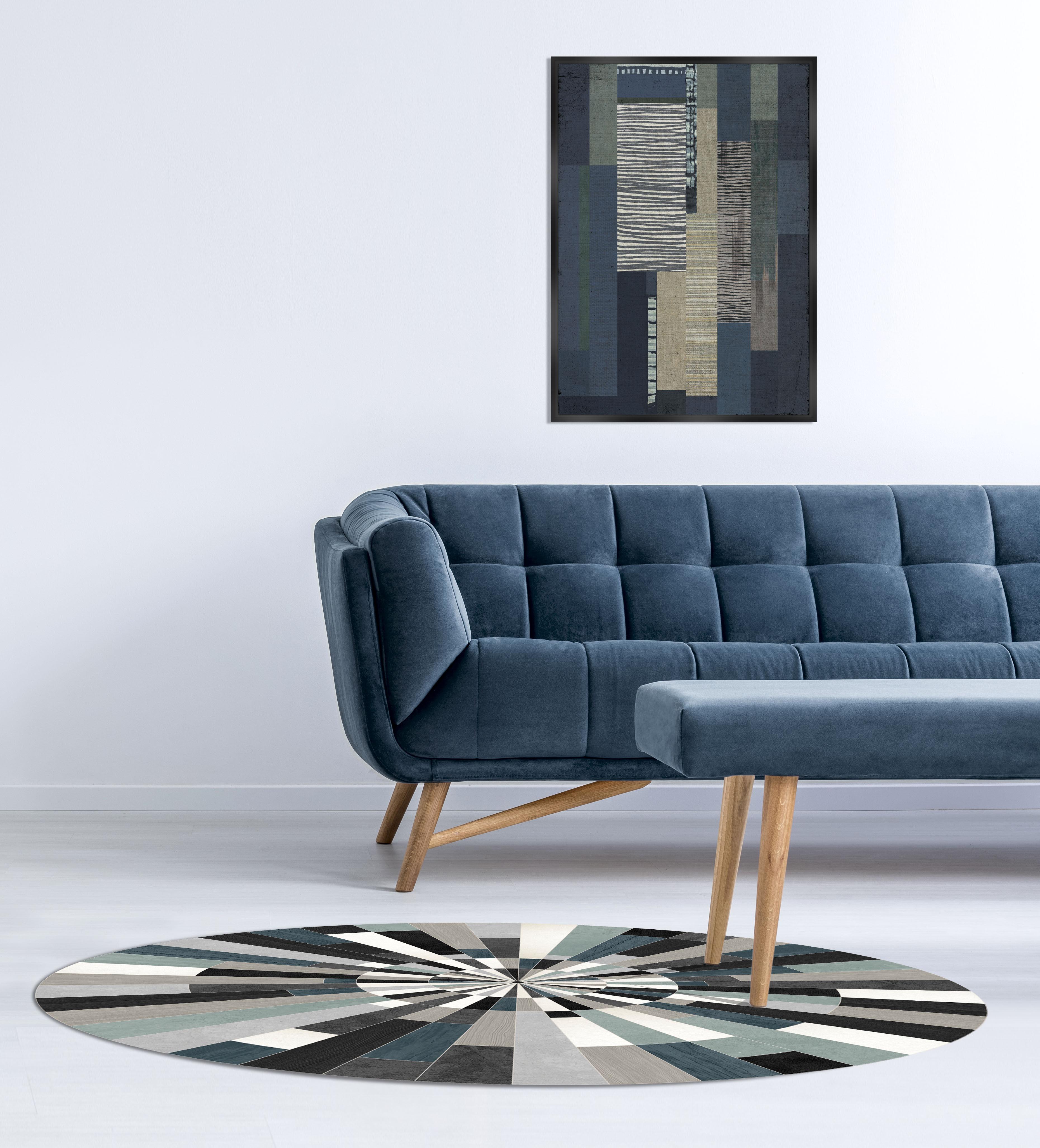 teppich fragments von p devache fragments blau schwarz grau 99 made in design. Black Bedroom Furniture Sets. Home Design Ideas
