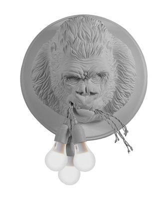 Lighting - Wall Lights - Ugo Rilla Wall light - / Ceramic gorilla - Ø 41.5 cm by Karman - Matt white - Ceramic