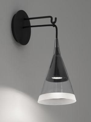 Vigo Wandleuchte / LED - H 42 cm - Artemide - Weiß,Schwarz,Transparent