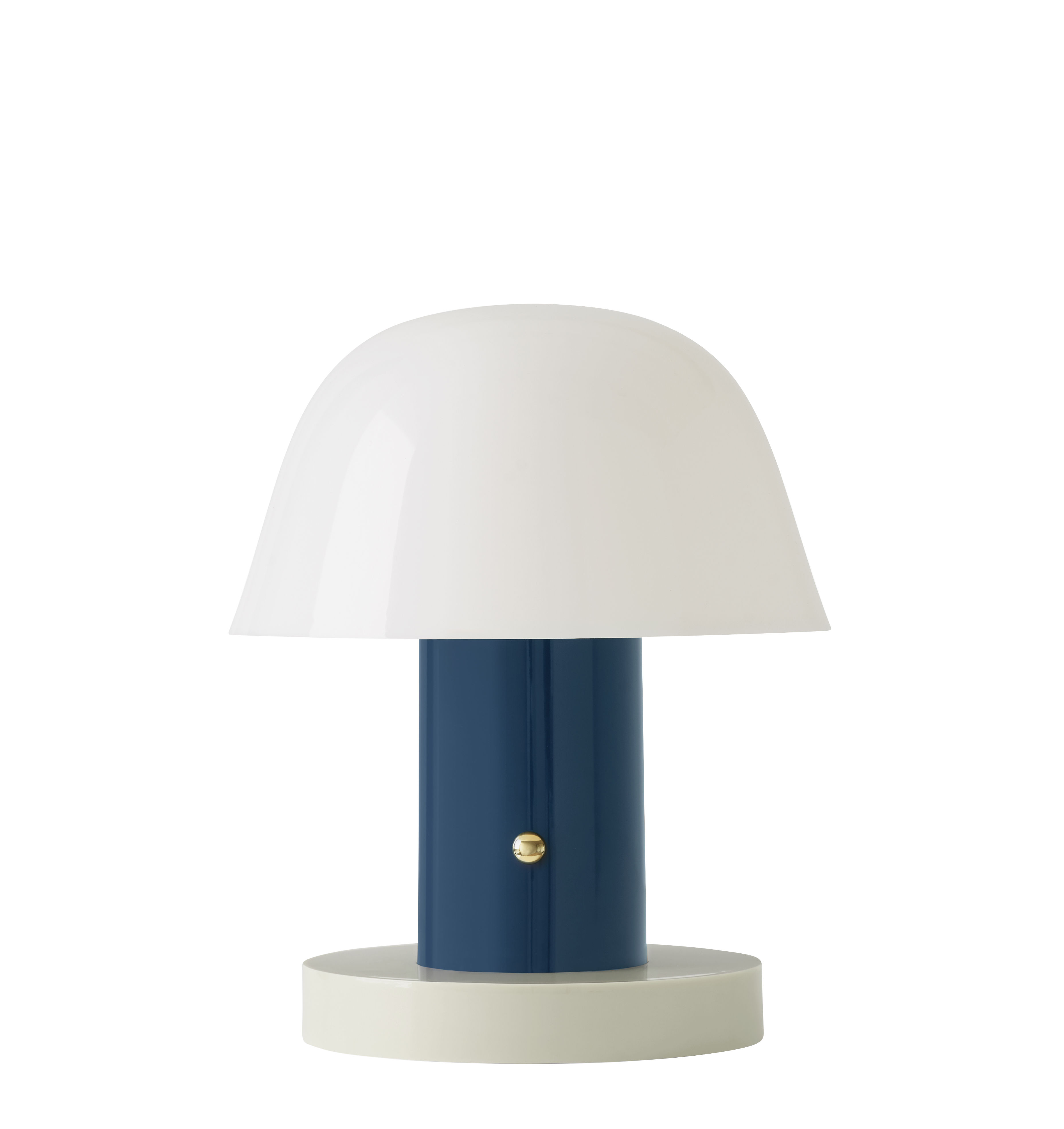 Lighting - Table Lamps - Setago  JH27 Wireless lamp - / LED - by Jaime Hayon by &tradition - Twilight blue / Sand base - Moulded polycarbonate
