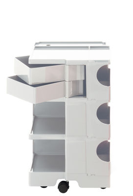 Möbel - Beistell-Möbel - Boby Ablage / H 73 cm - 2 Schubladen - B-LINE - Weiß - ABS