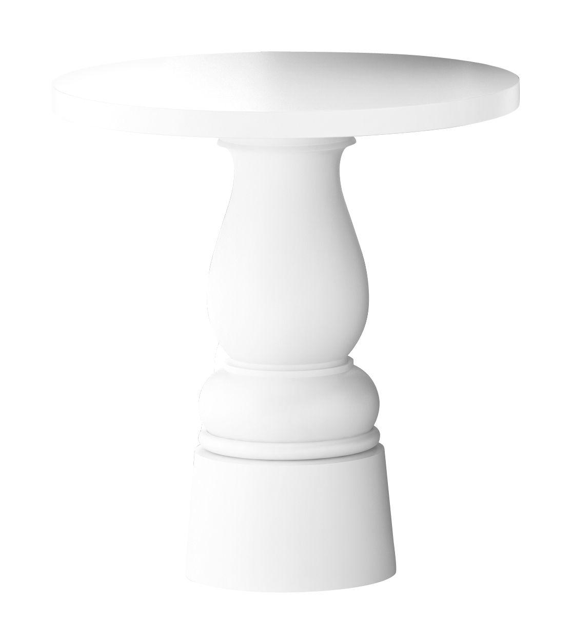 Outdoor - Tavoli  - Accessorio tavolo / Pied pour table Container New Antique - Ø 32 x H 71 cm - Per piano d'appoggio Ø 70 cm di Moooi - Gamba colore bianco - Ø 32 x H 71 cm - Acciaio inossidabile, Polietilene