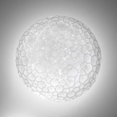 Applique Meteorite / Plafonnier - Ø 35 cm - Artemide blanc en verre